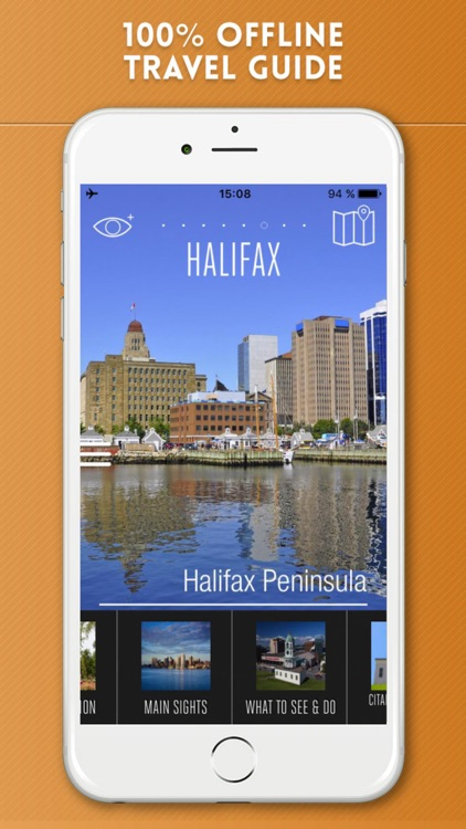 Halifax Travel Guide with Offline City Street Map