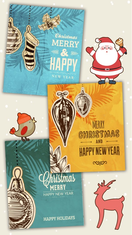 Merry Christmas Cards 2016- Premium