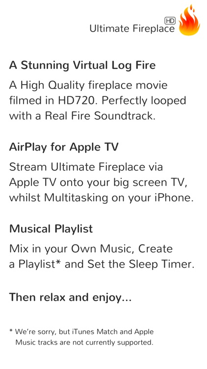 Ultimate Fireplace HD for Apple TV screenshot-1