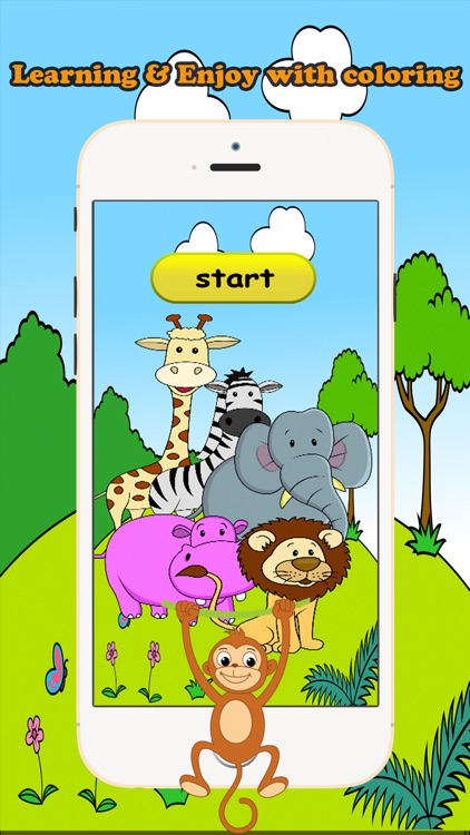Zoo Animals Coloring Book Educational Toddler Game