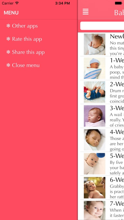 Baby's First Year Premium   you can look forward to in newborn babies from milestones to baby's growth screenshot-4