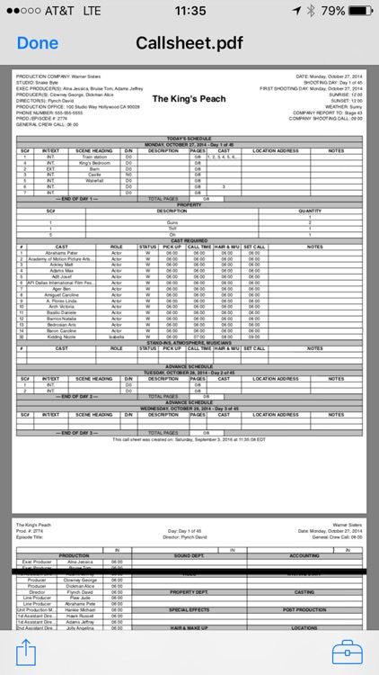 Pocket Call Sheet screenshot-3