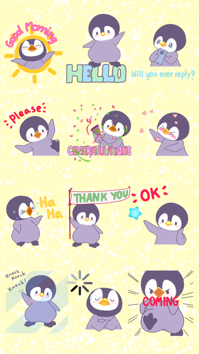 Penguin Bo Animated Bird Stickers for Text Message screenshot two