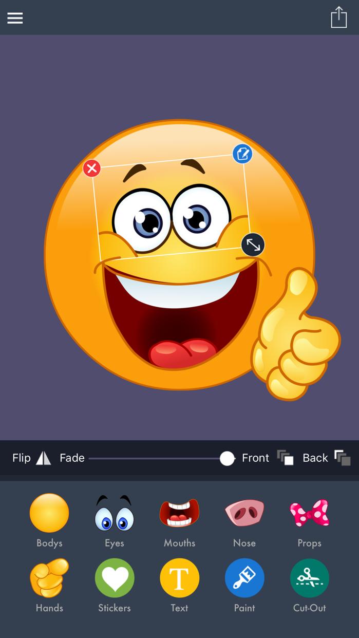 Emoji Maker, Emoji Creator, Emoji Crack by piZap Screenshot