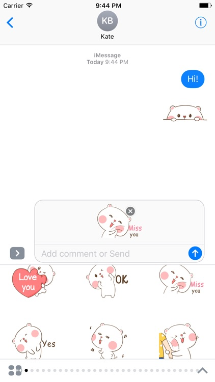Cute Bear Sticker screenshot-3