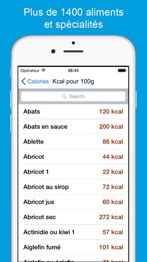 calories calcul kcal r gime dans l app store. Black Bedroom Furniture Sets. Home Design Ideas