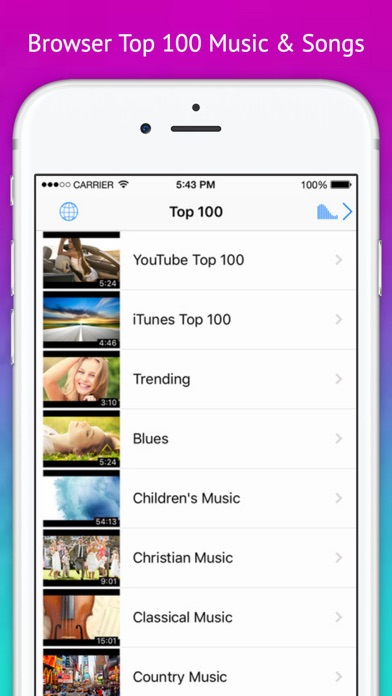 Play Video - Music Tube & playlist for youtube Screenshots