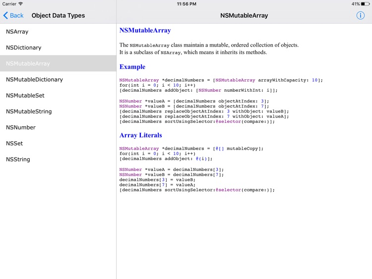 Objective C Reference HD