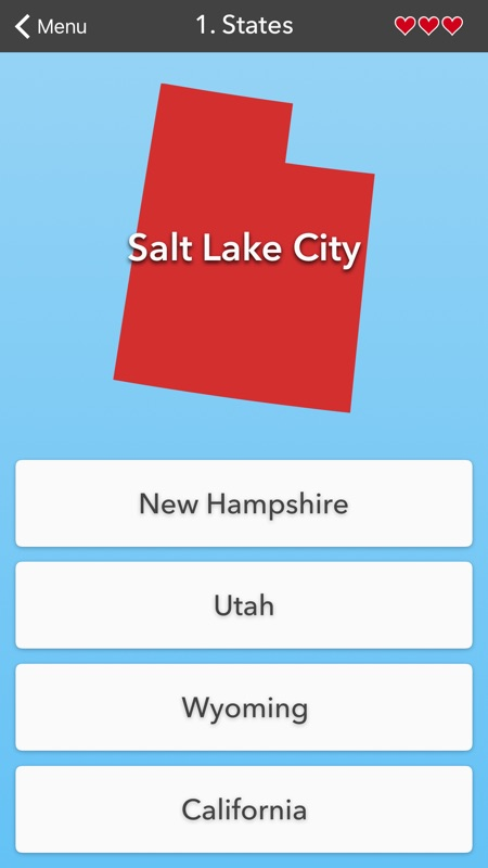 50 States • Flag, Capital and US Map Quiz - Online Game ... on united states map with capitals, united states states, map of us states with numbers, united states map quiz printable, united states games, united states map with rivers labeled, united states map quiz usa, united states map quiz capitals,