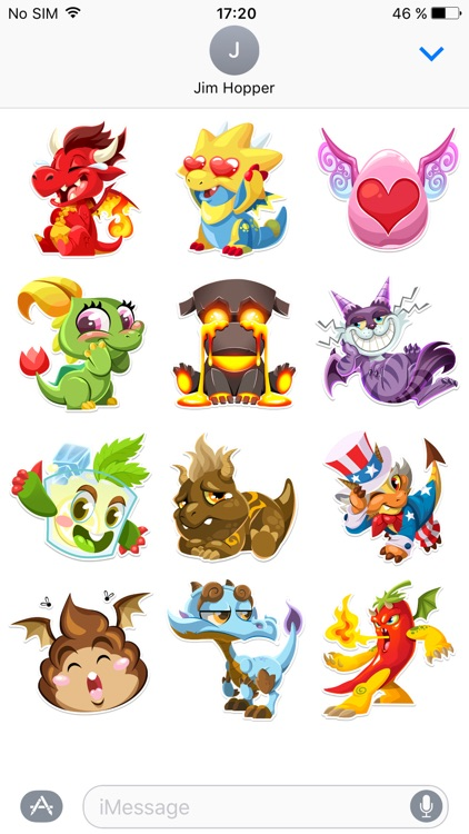 Dragon City Stickers