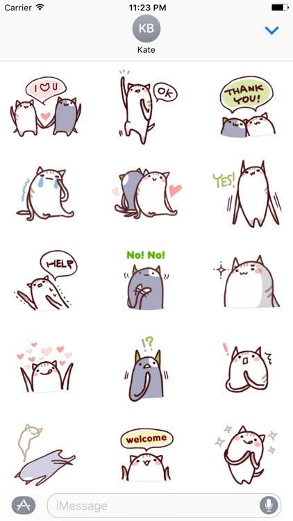 Cute Puss Stickers Pack for iMessage