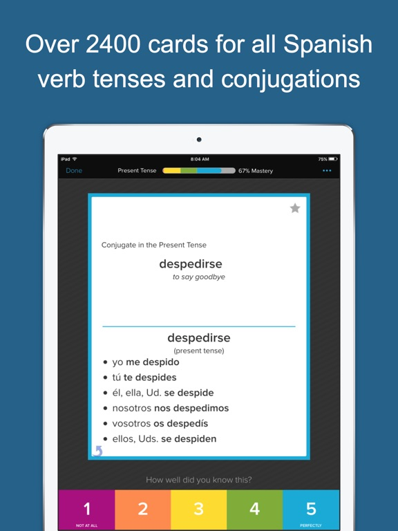Learn Spanish Verbs Screenshots