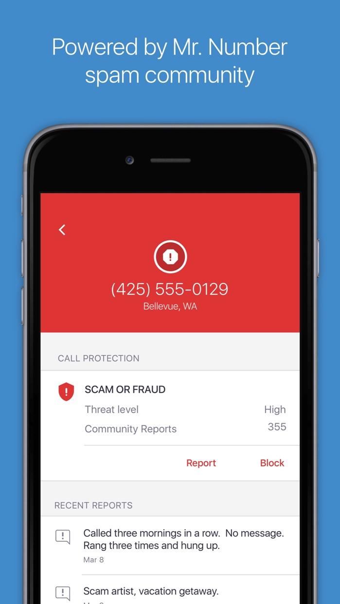 Mr. Number: Call Block & Reverse Lookup Screenshot