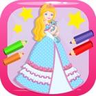 Disegni da colorare principessa libro per bambini icon