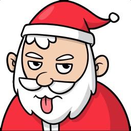 Grumpy Santa Xmas Stickers