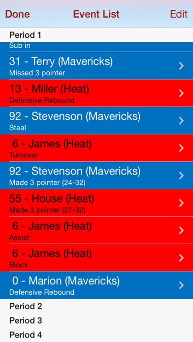 Hoopstats Basketball Scoring review screenshots