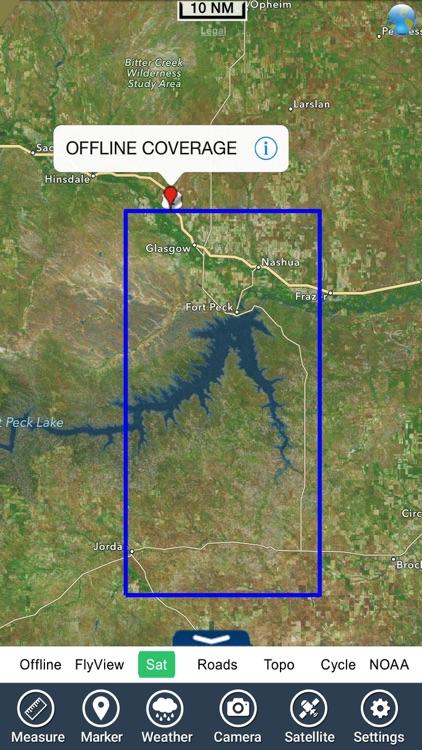 Fort Peck lake - Montana GPS HD fishing charts screenshot-4