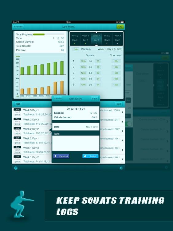Squats Coach Pro for iPad - Do 200 Squats screenshot-3