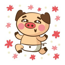 Crazy Pig - Wild Stickers for Chat Messages