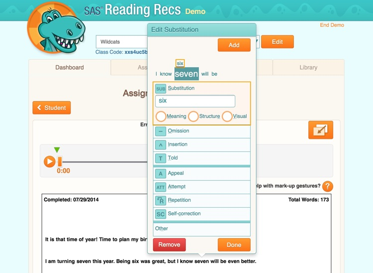 SAS Reading Records screenshot-4
