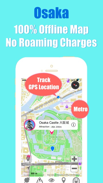 Osaka travel guide and offline metro city map by Beetletrip Augmented Reality Advisor screenshot-3
