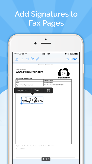 Fax Burner review screenshots