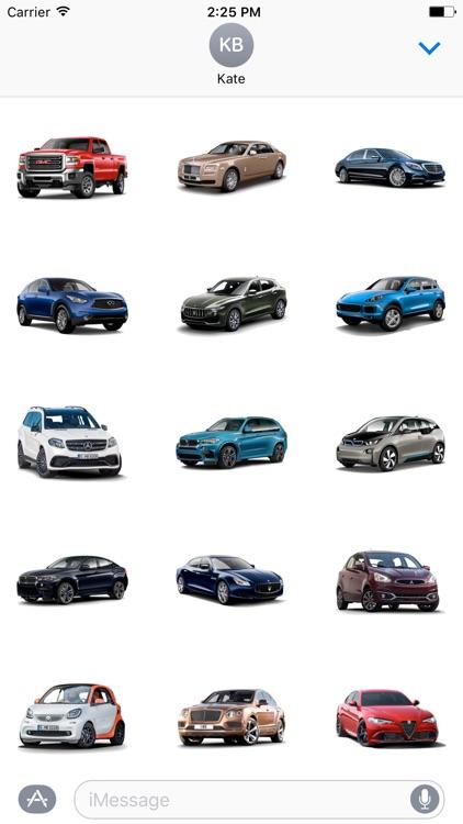 3D Cars Stickers screenshot-3