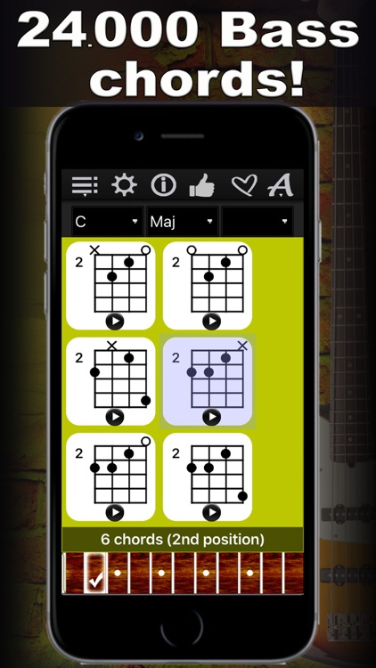Bass Chords Compass - learn & play chord charts screenshot-0