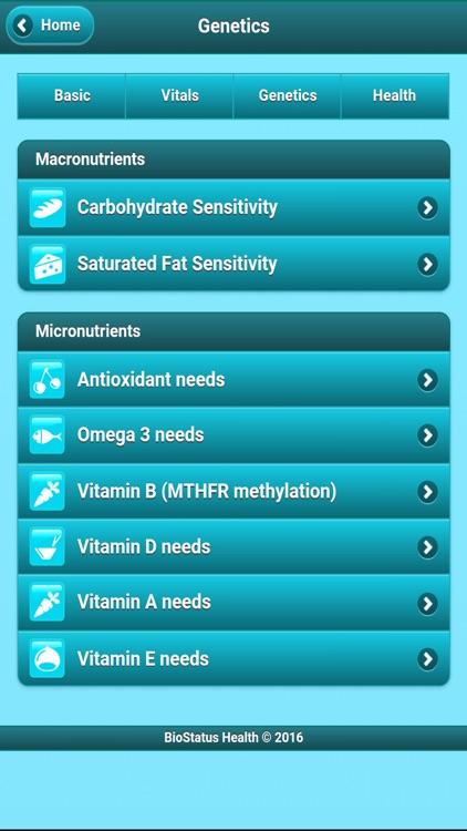 DNA Nutrition Tracker