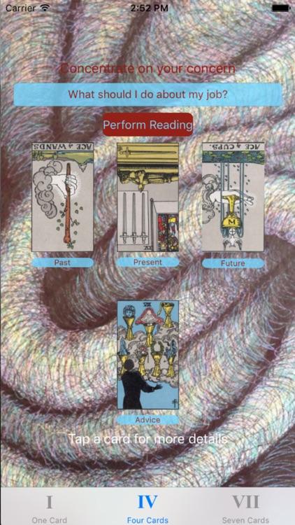 Tarot Card Reader Lite screenshot-3