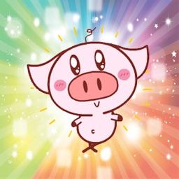 Cute pink piggy Gif - Fx Sticker
