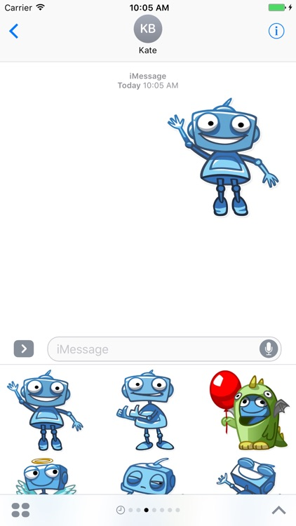 Blue Robots for iMessage