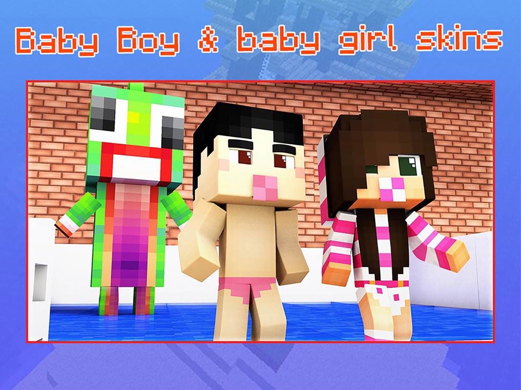 Baby Skins for Minecraft PE - Boy & Girl Skinseed - Online