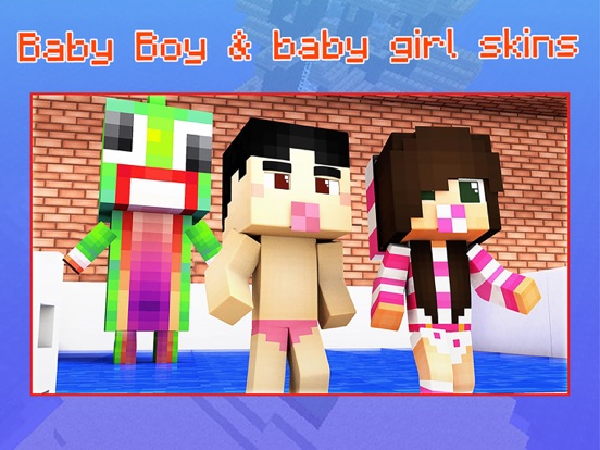 Baby Skins for Minecraft PE - Boy & Girl Skinseedのおすすめ画像1