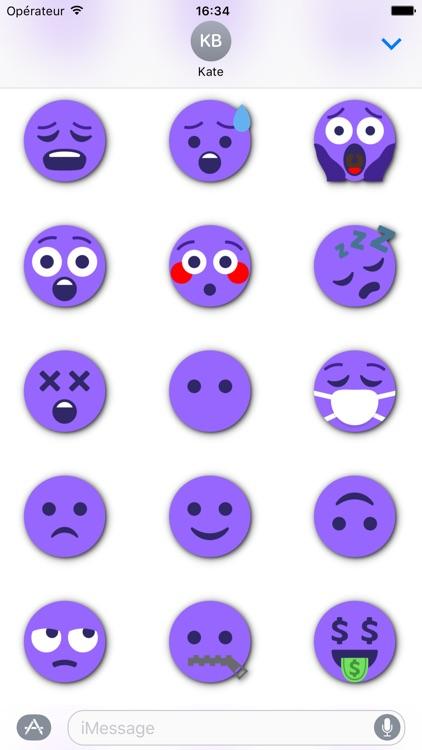 PURPLE Emoji • Stickers for iMessage screenshot-3
