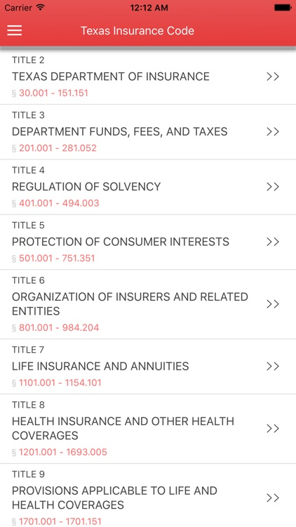 Texas Insurance Code 2017 screenshot-0