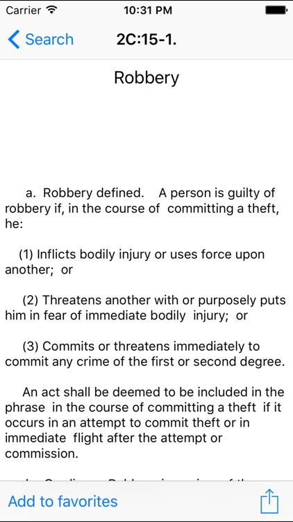 NJLaw - Title 2C - Criminal Law screenshot-3