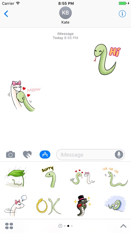 Cute Snake Sticker for iMessage #1