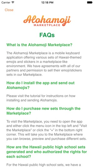 Alohamoji Marketplace Screenshot
