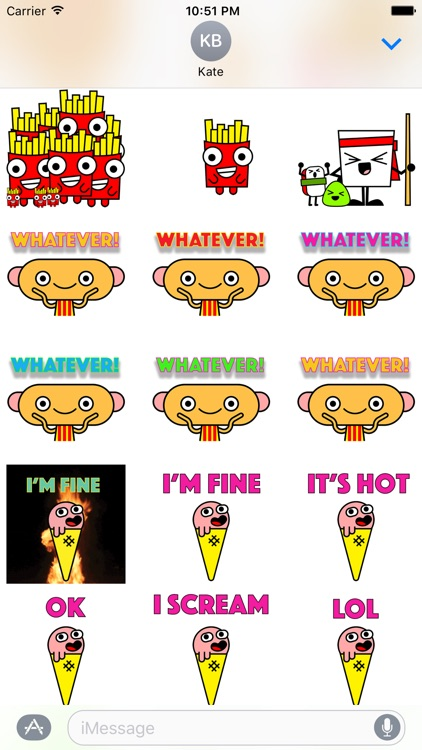 Food Dudes! Stickers! screenshot-3