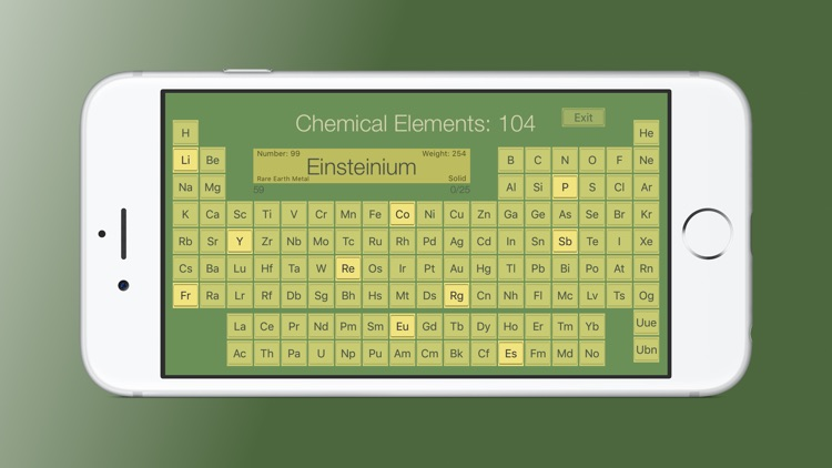 Chemical Elements Trainer
