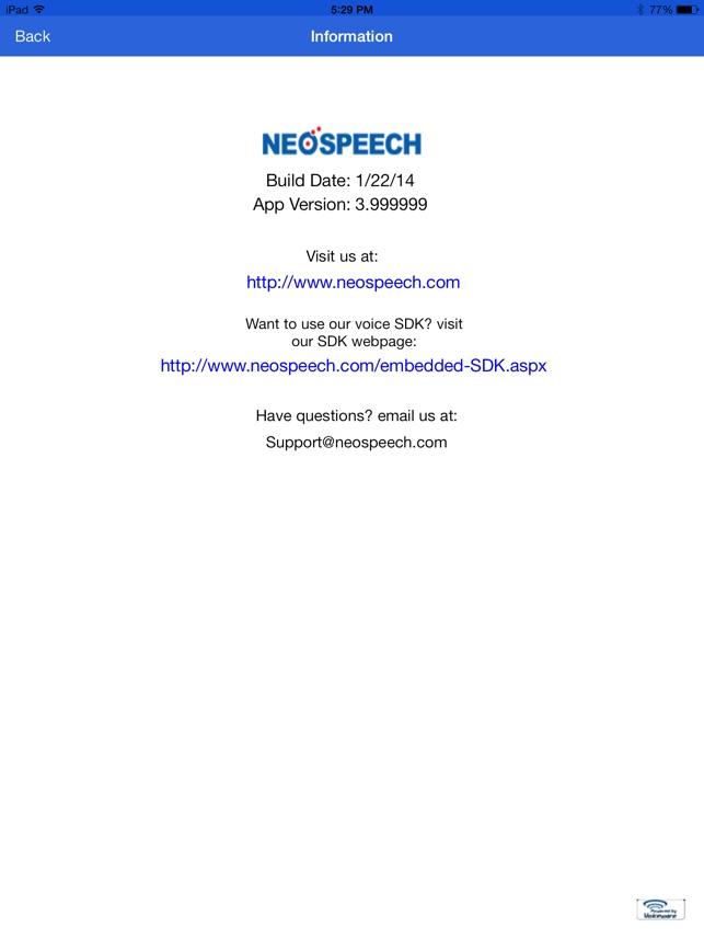 NeoSpeech - Text to Speech SPA (TTS) LITE on the App Store