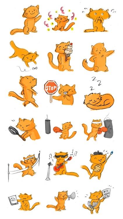 Orange the Cat Sticker Pack