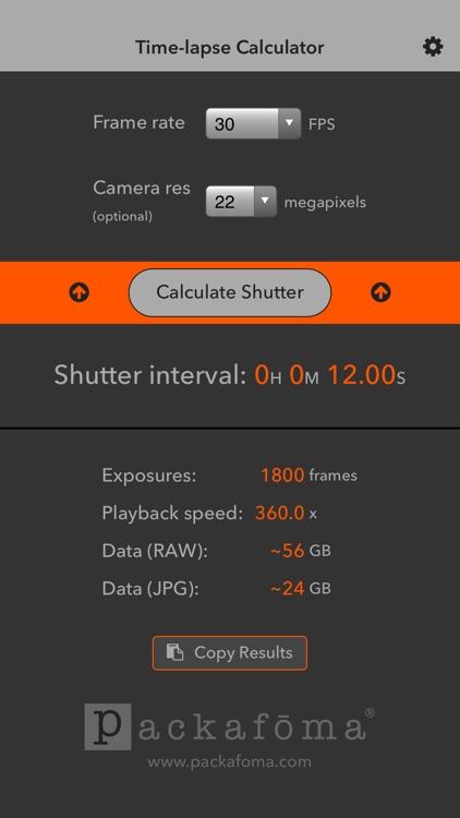 Time-lapse Calculator