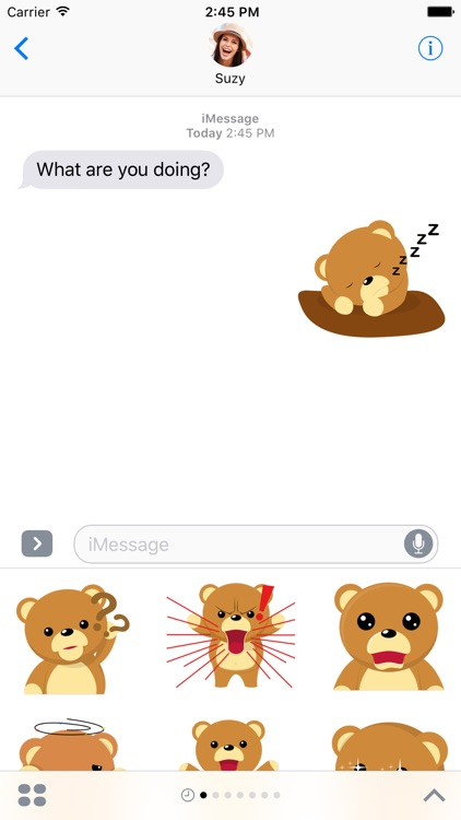 Cuddle Teddy Bear Stickers