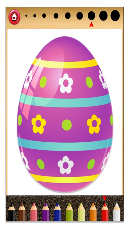 Easter Eggs Kids Coloring Book - Game for Kids