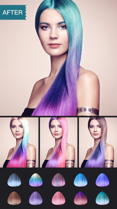 Hair Dye-Wig Color Changer,Splash Filters Effectsのおすすめ画像2