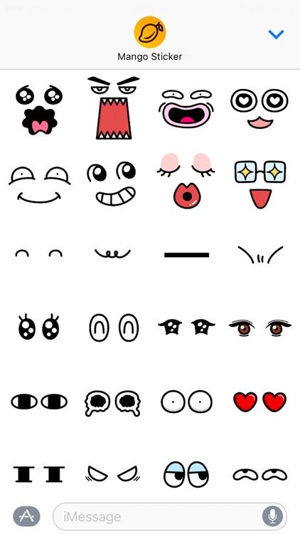 Cartoon Face Maker - Mango Sticker