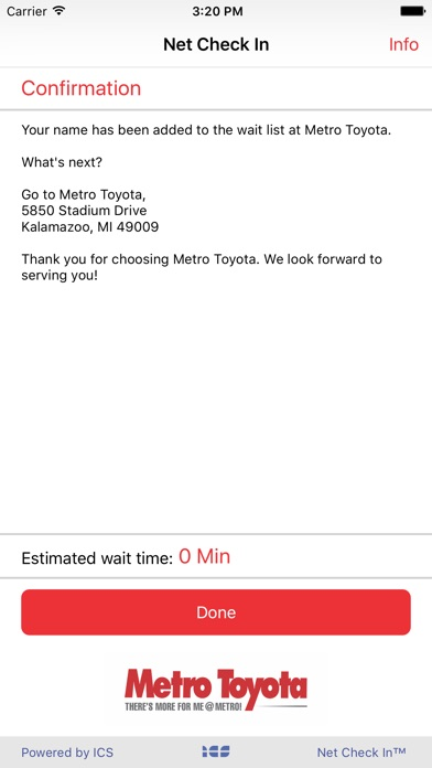 ... Net Check In   Metro Toyota