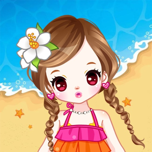 Dressup Kids Games Makeup Girl Game On The: Beach Dress Up,Anime Kids Game By